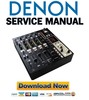 Thumbnail Denon DN X1600 Service Manual & Repair Guide