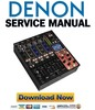 Denon DN X1700 Service Manual & Repair Guide