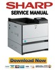 Thumbnail Sharp MX C300P C300PE C300PL Service Manual and Repair Guide