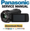 Thumbnail Panasonic HC WX970 WX979 VX870 VX878 V770 V777 V776 Service Manual
