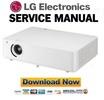 Thumbnail LG BG630 Projector Service Manual and Repair Guide
