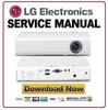 Thumbnail LG PA70G Projector Service Manual and Repair Guide