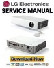 Thumbnail LG PB60G Projector Service Manual and Repair Guide