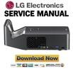 Thumbnail LG PF1000U Projector Service Manual and Repair Guide