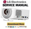 Thumbnail LG PF1500 Projector Service Manual and Repair Guide