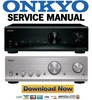 Thumbnail Onkyo A-9555 Service Manual and Repair Guide