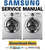 Thumbnail Samsung WF8502 WF8500 WF8604 Service Manual and Repair Guide