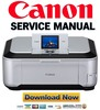 Thumbnail Canon Pixma MP980 Service Manual and Repair Guide