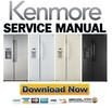 Thumbnail Kenmore 51022 51023 51024 51026 51029 side by side refrigerator service manual