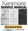 Thumbnail Kenmore 71072 71073 71079 French door refrigerator service manual