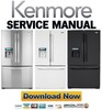 Thumbnail Kenmore 71082 71083 71089 French door refrigerator service manuall