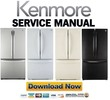 Thumbnail Kenmore 71302 71303 71304 71306 71309 French door refrigerator service manual