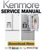 Thumbnail Kenmore 72063 72062 French door refrigerator service manual