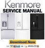 Thumbnail Kenmore 74092 74093 74099 French door refrigerator service manual