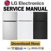 Thumbnail LG LTCS24223B LTCS24223S LTCS24223W LTCS24223D Service Manual