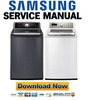 Thumbnail Samsung WA484DSHASU WA484DSHAWR A1 Service Manual & Repair Guide