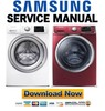 Thumbnail Samsung WF42H5400AW WF42H5400AF WF42H5500AF Service Manual & Repair Guide