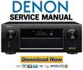 Thumbnail Denon AVR X6200W Service Manual and Repair Guide