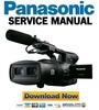 Thumbnail Panasonic AG-3DA1 Integrated Twin Lens 3D Camcorder Service Manual