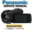 Thumbnail Panasonic HC VX980 VX981 VX989 VX980M 4K Ultra HD Camcorder Service Manual