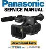 Thumbnail Panasonic HC X1 4K Ultra HD Camcorder Service Manual