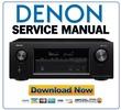 Thumbnail Denon AVR X3400H Receiver Original Service Manual