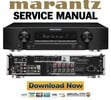 Thumbnail Marantz NR1508 Receiver Original Service Manual