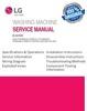 Thumbnail LG WD 12210BD 12215BD Washing Machine Service Manual