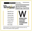 Thumbnail Whirlpool AWOD 053 Washing Machine Service Manual