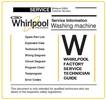 Thumbnail Whirlpool AWZ 614 Washing Machine Service Manual