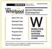 Thumbnail Whirlpool ADG 555 WH Dishwasher Service Manual