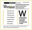 Thumbnail Whirlpool WP 122 dishwasher Service Manual