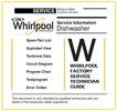 Thumbnail Whirlpool WP100 dishwasher Service Manual