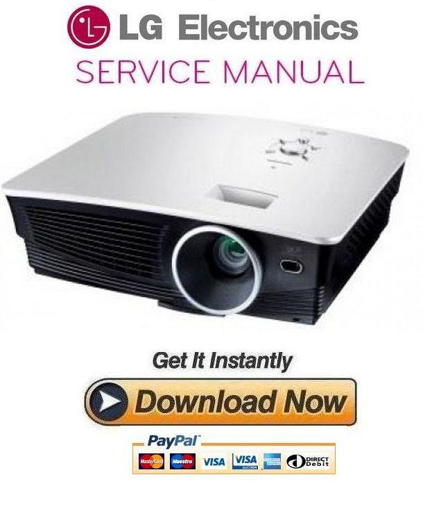 Thumbnail LG AH215 Projector Service Manual and Repair Guide