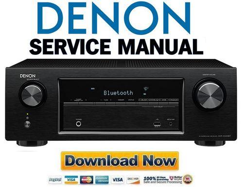 Denon Avr X520bt S510bt Service Manual  U0026 Repair Guide