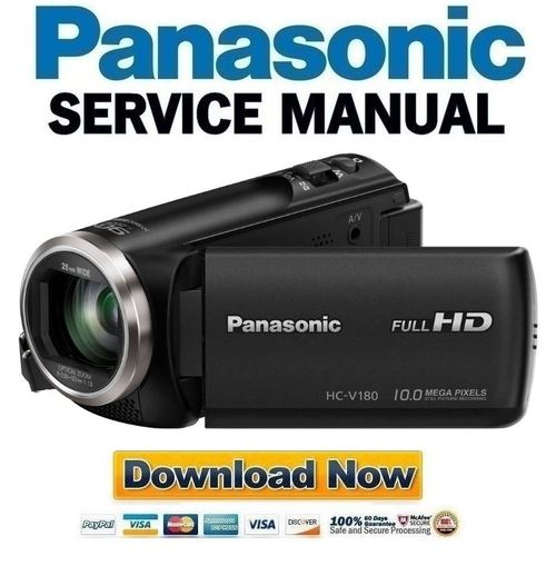 panasonic hc v180 v180k service manual repair guide download manu. Black Bedroom Furniture Sets. Home Design Ideas