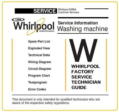 Whirlpool Wwde 7512 Washing Machine Service Manual