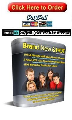 Pay for Brand New & Hot Minisite Templates