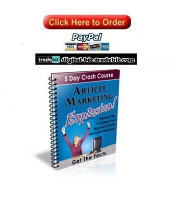 Pay for Article Marketing Explosion Crash Course