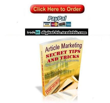 Pay for Article Marketing Secret Tips And Tricks