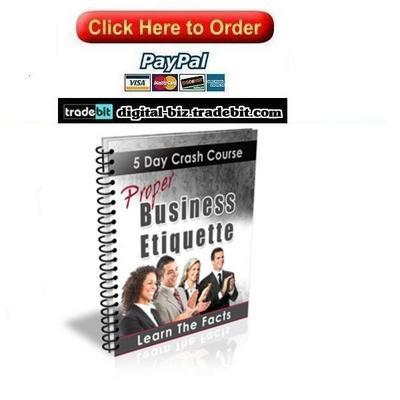Pay for Proper Business Etiquette Crash Course