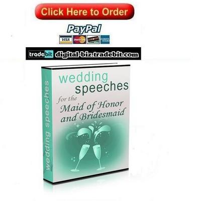 Pay for Wedding Speeches for the Maid of honor and Bridesmaids