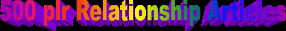 Thumbnail 500 plr Relationship Articles