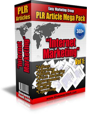 Pay for 300 Internet marketing Vol 1 (PLR)