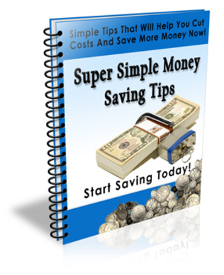 Pay for Super Simple Money Saving Tips ecourse (PLR)