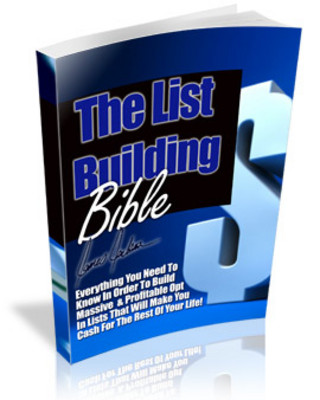 Pay for The List Building Bible (PLR)