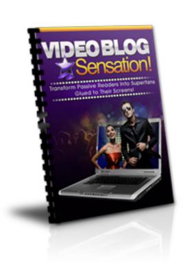 Pay for Video Blogging Sensation (PLR)