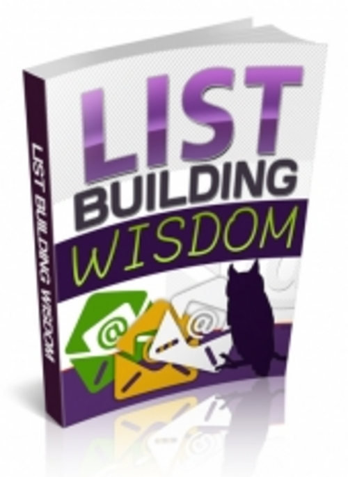 Pay for List Building Wisdom with (PLR)