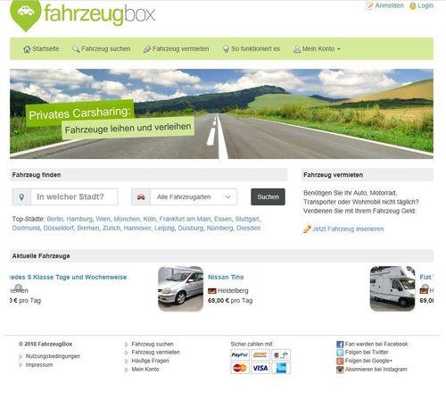 Pay for PHP Carsharing Marktplatz Script - Autovermietung Webprojekt