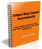 Thumbnail Unique Blog Content Automatically + Master Resale Rights